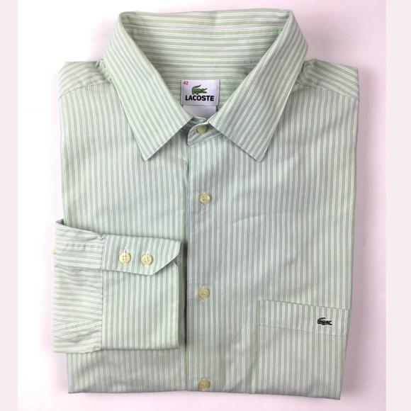1c9046a5b1 LaCoste Men's Long Sleeve Shirt Alligator Green